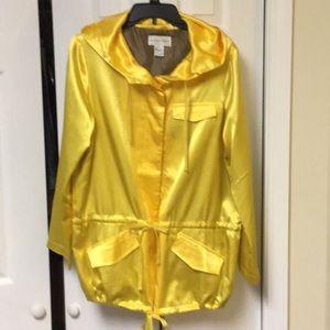 Vintage Satin Hooded Jacket